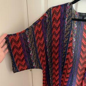 Forever 21 Aztec Kimono sz XL/1X